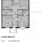Lägenhetsritning 3r.o.k.