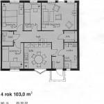 Lägenhetsritning 4r.o.k. 1 plan