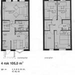 Lägenhetsritning 2plan 4r.o.k.
